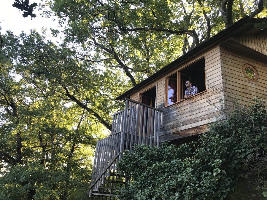 Cabanes Hêtre sous les arbres à Entraygues